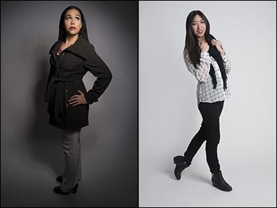 Static vs. dynamic feet in posing.